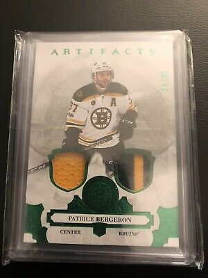 2017/18 UD Artifacts Patrice Bergeron /65 Double Jersey Card Mint Boston Bruins