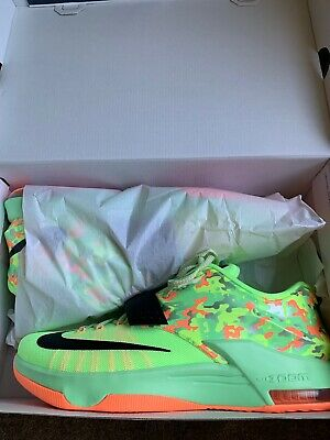 sports shoes b0314 d3cbd KD NIKE Zoom Easter 7 VII Men's Size 13 Lime Green Black VAPOR CAMO GLOW  653996