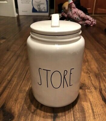"""New Rae Dunn by Magenta L/L """"STORE"""" Large/Chubby Canister HTF Rare"""