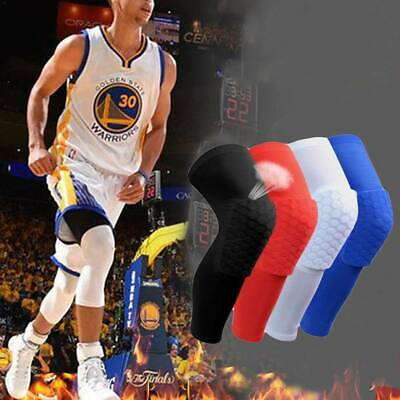 Youth Pad Honeycomb Leg Support Knee Sleeve Brace Sports Support Basketball 3A