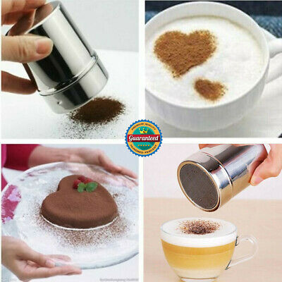 Stainless Steel Chocolate Shaker Icing Sugar Powder Flour Cocoa Coffee Sifter