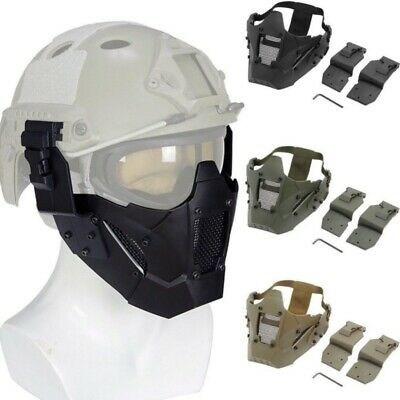 Tactical Airsoft Paintball Half Face Iron Steel Mesh Protective Lower Mask~