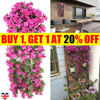 Artifical Fake Flowers Lily Ivy Vine Hanging Garland Plant Wedding Home RD