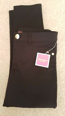 New Girls Trendy Juicy Couture Black Crop Pants,leggings  bottoms Age 9-10  £65