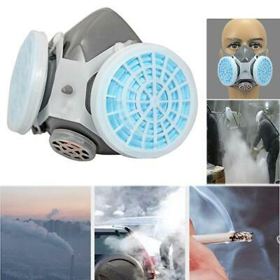 Emergency Survival Gas Mask Safety Respiratory Tool w/ 2 Dual Protection Filter