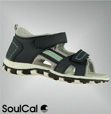 Boys SoulCal Open Faced Soft Padded 2 Strap Trek Sandals Sizes from C5 to C9