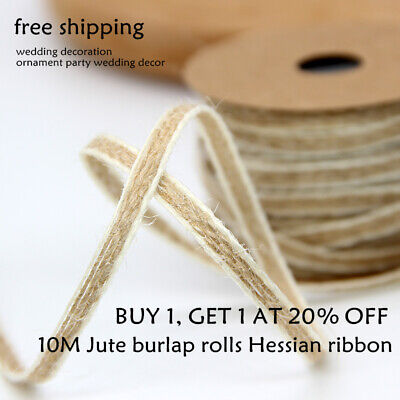 1 Roll 10m Hemp Rope Natural Jute Hemp Linen Twine Cord String Craft DIY Making