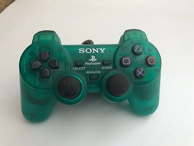 Official Sony Playstation 1 PS1 TRANSPARENT CLEAR GREEN Controller SCPH-1200