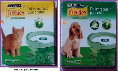 PROMO : Colliers Répulsif 16 Chats + 6 Chiens PURINA FRISKIES Puce, Tique...0518