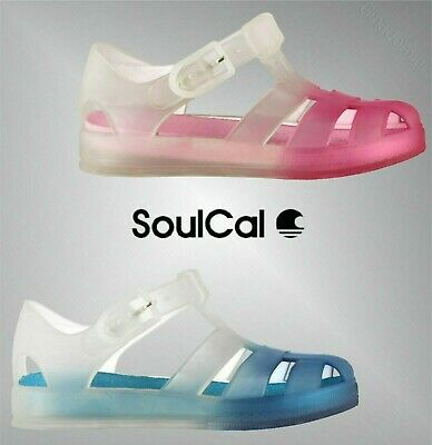 Boys Girls SoulCal Side Buckle Gaps Jelly Sandals Sizes from C5 to C9