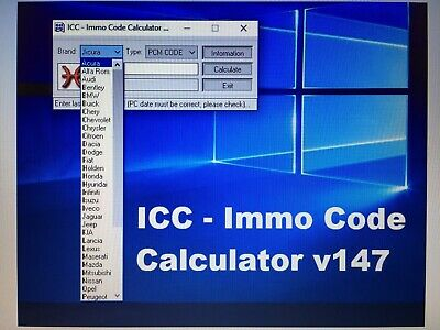 ICC Immo Code Calculator v147 [softonly] you need a dongle to use this
