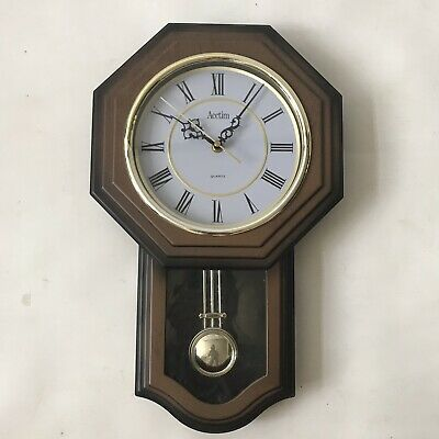 Acctim Quartz Grandfather Wall Clock Pendulum Box Frame Vintage Style H47x W29cm