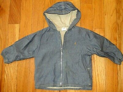 Baby GAP Boys Size 3 Years Lightweight Cotton Zippered Jacket Hooded w/ Pockets
