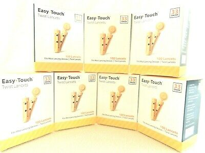 Easy-Touch-Twist Lancets, 33 Gauge - 100 Each Pack (Lot Of 7)- Nib 10/19