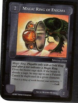 MIDDLE EARTH LIDLESS EYE Uncommon Card MAGIC RING OF ENIGMA