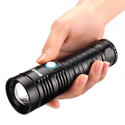 Camping Flashlight Portable XHP50 Light Battery Operated Telescopic Torch LED