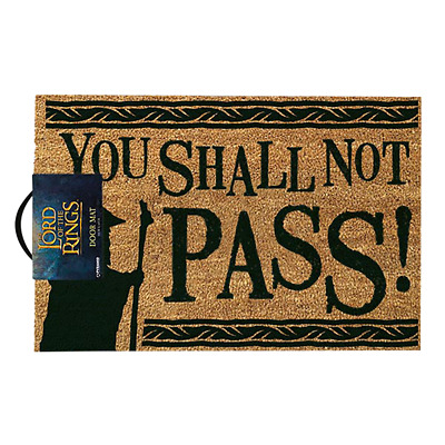 Lord of the Rings - You Shall Not Pass Doormat - Loot - BRAND NEW