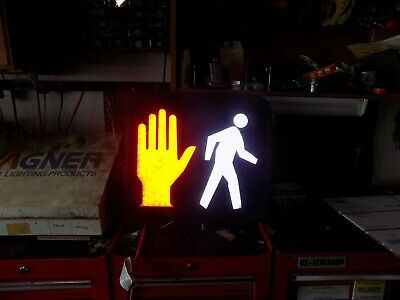 Traffic Light Signal Vintage Double Hand Don't Walk Crosswalk Rare Modern