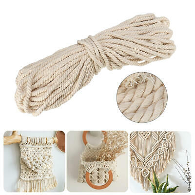 Macrame Rope Pure Cotton L350M D2mm Natural Beige Twisted Cord Braided Wire