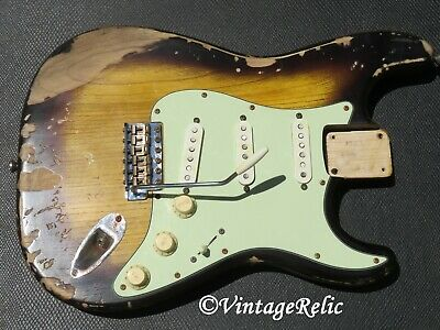 aged RELIC loaded nitro Stratocaster body 1P ASH Fender Custom Shop pups LIGHT