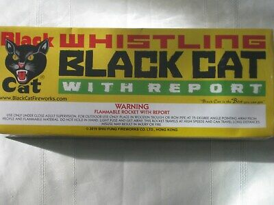(1) Black Cat Whistling Bottle Rocket Label - 1 Gross Pack Label