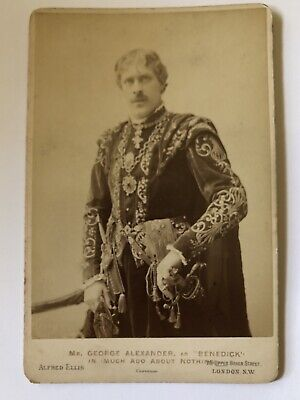 Cabinet Card Photo Sir George Alexander Actor 1890s Much Ado About Nothing