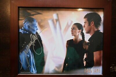 Framed Virginia Hey autographed 8x10 Photo COA FARSCAPE 'Pa'u Zotoh Zhaan'