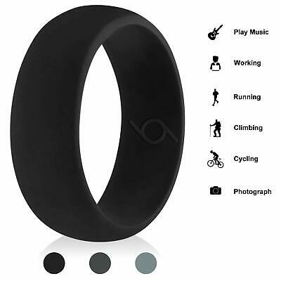 USA STOCK 2X Silicone Wedding Engagement Ring Men Women Rubber Band
