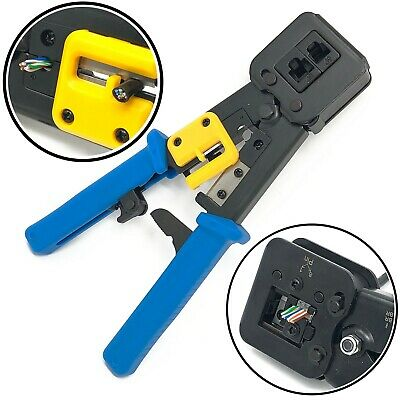 SVR RJ45 Cat5 Cat6 EZ Pass Through Connector Network Crimping Crimper Crimp Tool
