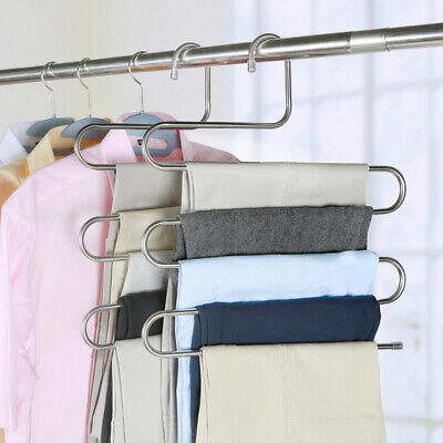 Multi Layers Pant Hangers Closet Storage For Pants Trousers Home Room