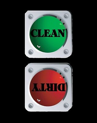 METAL DISHWASHER MAGNET Image Of Stoplight Clean Dirty Dishes Food MAGNET