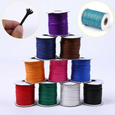 0.5mm-5mm Waxed Polyester Cord String Thread Beading DIY Jewellery String Making