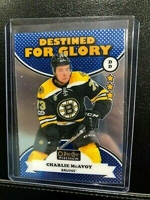 2017-18 O-Pee-Chee Platinum Destined For Glory Charlie McAvoy #DG-13