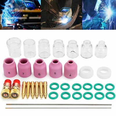 36x TIG Welding Accessory Ceramic Cup Electrode Clamp For Tig WP-17/18/26 Torch