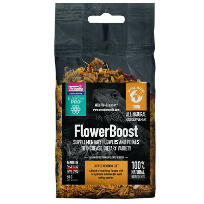 Arcadia EarthPro FlowerBoost, 60g Nutritious Flower Blend for Plant Eaters