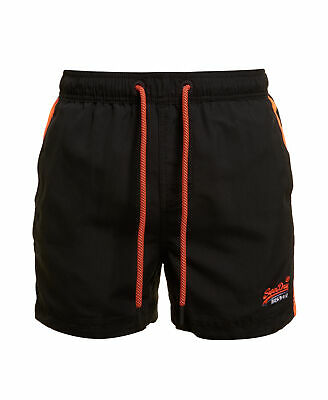 New Mens Superdry Beach Volley Swim Shorts Black