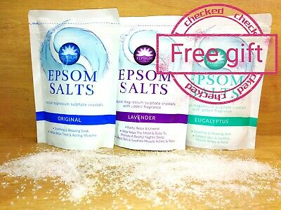 Epsom Salts Magnesium Sulphate Natural Pains Relax Soak Elysium 450g Bath Spa