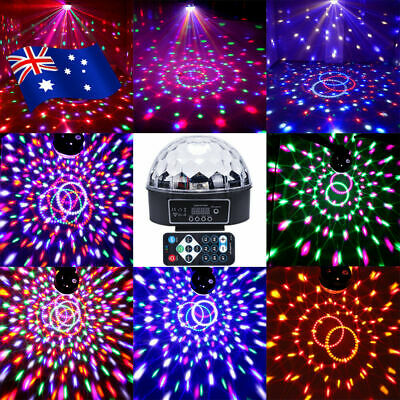 AU Disco Party DJ LED RGB Stage Effect Laser Light Lamp Crystal Magic Ball SAA