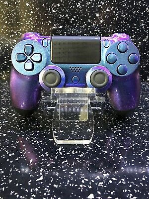 Sony Playstation 4 PS4 V2 Controller Custom Modded Purple Blue Chameleon