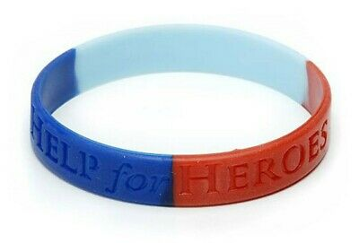 "Brand New ""HELP FOR HEROES OFFICIAL SIZE LARGE WRISTBAND"" (Same Day Dispatch !!)"