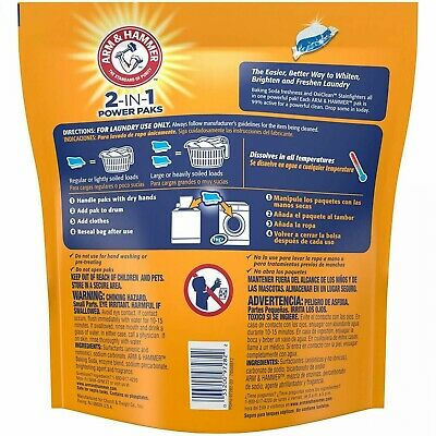 Arm & Hammer 2-IN-1 Laundry Detergent Power Paks, 97 Count Pods, Cleans Great
