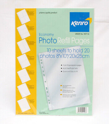 """Kenro Economy Photo Refill Pages To Hold 8x10"""" 10 Sheets"""