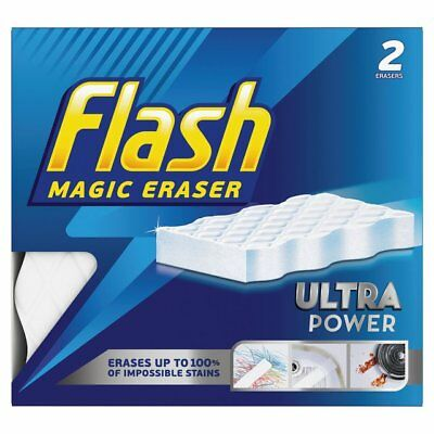 2x Flash Mágico Borrador Ultra Power Reutilizable Esponja Amovedor Mancha