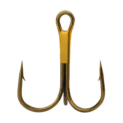 Lot 50pcs Fishing Hook Sharpened Treble Hooks Fishhook 4 Size Available