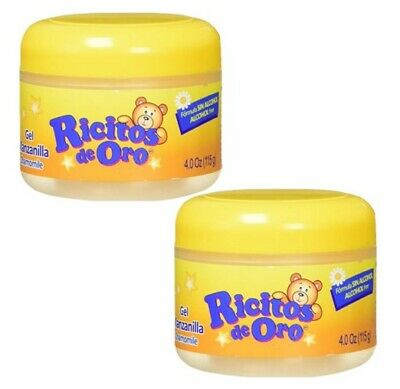 2 Pack Ricitos De Oro Styling Gel Manzanilla/Chamomile Sin Alcohol/Alcohol Free