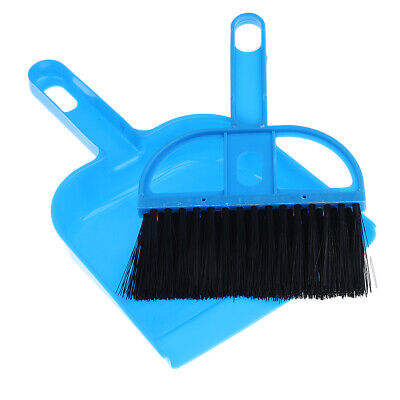 Mini Desktop Sweep Brush with Small Broom Dustpan Set Cleaning Tools, Blue