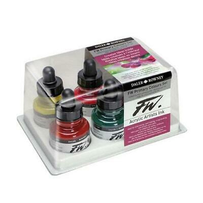 DALER ROWNEY FW ACRYLIC INK PRIMARY COLOURS - Set of 6