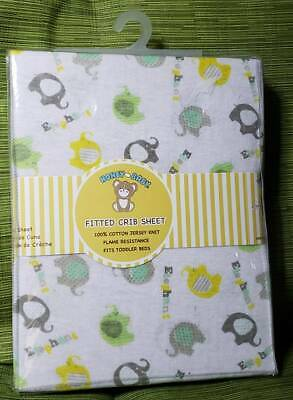 Fitted Crib Sheet Elefant Baby Printing 28'' X 52'' New 100% Cotton