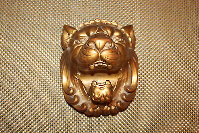 Heather Ann Lion Bust Curtain Rod Holder Tie Back #1 Rococo Wood USA Made