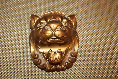 Heather Ann Lion Bust Curtain Rod Holder Tie Back #3 Rococo Wood USA Made